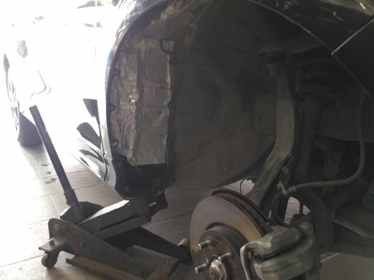 歌诗图汽车隔音改装大白鲨隔音 峡山车韵  汽车的尾箱盖和引擎盖也都