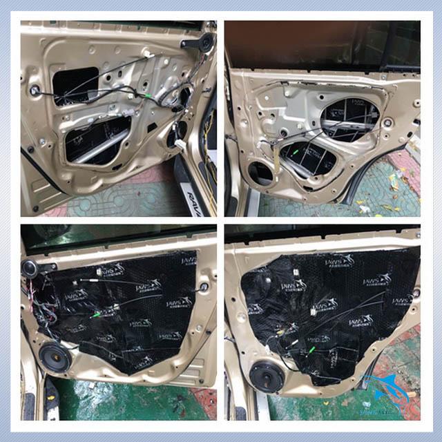 解决噪声问题 丰田rav4汽车隔音改装大白鲨隔音